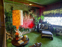 Jungle Room Waterfall at Graceland Royalty Free Stock Photography