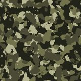 Jungle seamless camo pattern Stock Photos
