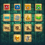 Jungle shamans GUI booster buttons kit Royalty Free Stock Photography