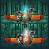 Jungle shamans GUI  boosters air and water Royalty Free Stock Image