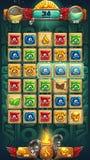 Jungle shamans GUI playing field window Royalty Free Stock Image