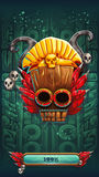 Jungle shamans mobile GUI game rune background loading screen Royalty Free Stock Image
