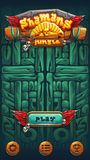 Jungle shamans mobile GUI play. Jungle shamans mobile game user interface play window screen. Vector illustration for web mobile video game Royalty Free Stock Image