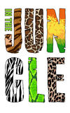 In The Jungle T-short print on white background Royalty Free Stock Photo