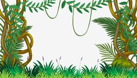 A Jungle Template with Vine stock illustration
