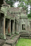 Jungle Temple - Angkor Wat. The Jungle Temple in the Angkor Wat City Stock Photo