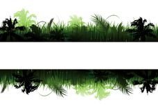 Jungle vector landscape Stock Illustration