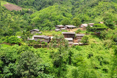 Jungle village Royalty Free Stock Photos