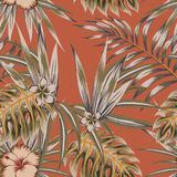 Tropical vintage seamless pattern Royalty Free Stock Photo