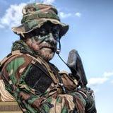 Jungle warfare unit Stock Image