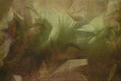 Jungle watercolor scene on stone Stock Image
