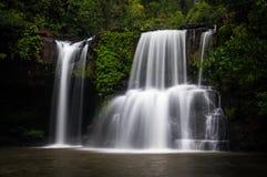 Jungle waterfall, Thailand. Long exposure of jungle waterfall, Thailand Stock Images