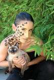 Jungle woman Royalty Free Stock Photography