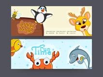 Jungle World header or banner set. Stock Images