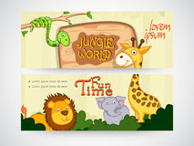 Jungle world website header or banner. Royalty Free Stock Image
