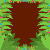 Jungle or Zoo Themed Animal Background Royalty Free Stock Photography