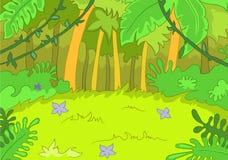 Jungley Lichtung lizenzfreie abbildung