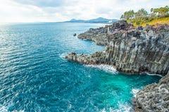 Jungmun Daepo στο νησί Jeju, Νότια Κορέα Στοκ Φωτογραφίες