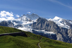 Jungrfau. Top of Europe - Jungfrau mount Switzerland stock image