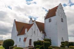 Jungshoved kyrka i Danmark Arkivfoto