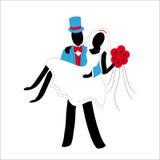 Jungvermähltenpaare stilisiert lizenzfreie abbildung