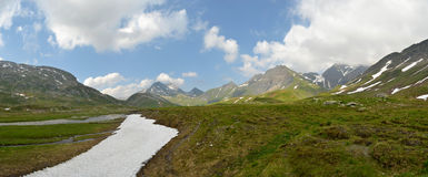 Panorama suíço do platô alto dos cumes Fotos de Stock