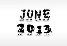 Juni 2013. stock illustratie