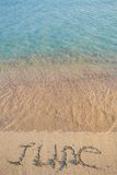 Juni auf dem Sand Stockfoto