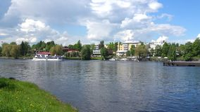 Juni dag i Savonlinna finland lager videofilmer