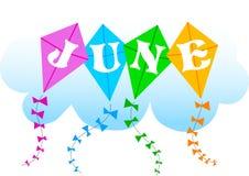 Juni-Drachen/ENV Lizenzfreie Stockfotos