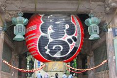 Juni 2018 Eingangsballon alter buddhistischer Shinshoji-Tempel, Narita, Japan lizenzfreies stockbild