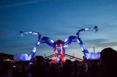 Juni, 27., 2015 Glastonbury-Festival Die Arcadiaspinne an Ni lizenzfreie stockfotografie