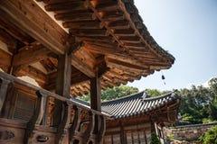 Juni 29, 2017: Härlig traditionell arkitektur Foto som tas på Juni 29, 2016 i den Yongin staden, Sydkorea Royaltyfria Bilder