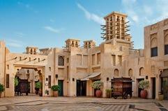 3 JUNI: Het beroemde hotel en toeristendistrict van Madinat Jumeirah Stock Afbeeldingen