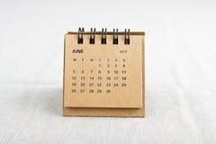 juni Het blad van de kalender Stock Afbeeldingen