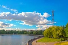 24 juni, 2015: Het centrum van Minsk, Wit-Rusland Stock Foto