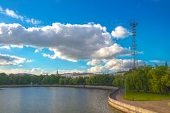 24 juni, 2015: Het centrum van Minsk, Wit-Rusland Stock Foto's
