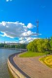 24 juni, 2015: Het centrum van Minsk, Wit-Rusland Royalty-vrije Stock Afbeelding