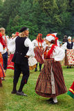 24. Juni - Johannes Tag oder Hochsommer-Tag Jaanipäev in Estland Lizenzfreies Stockbild