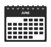 Juni-Kalenderpictogram royalty-vrije illustratie