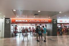 25. Juni 2018 Lissabon, Portugal - offizieller Speicher Benfica bei Estadio DA Luz, das Stadion für Sport Lissabon e Benfica Lizenzfreies Stockfoto