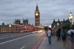 26 Juni 2015: Londen, het UK, Big Ben of Groot Klokketoren of Paleis van het Westenminister of het Britse Parlement bij nacht Royalty-vrije Stock Foto