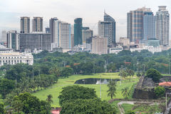 11,2017 juni Manilla citiview bij intramuros, Filippijns Manilla, Stock Afbeeldingen