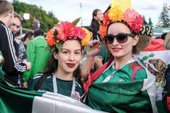 2018 14 Juni Moskou, Rusland Eerste gelijke van de Wereld FO van FIFA 2018 Stock Fotografie