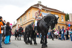 Juni parade in Brasov Royalty Free Stock Photos