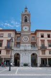 10 juni 2016 rimini-Italien-Tre Martiri fyrkant i rimini i den Emilia Romagna regionen Arkivfoton