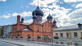Juni 2018, rysk federation, Tatarstan, Kazan Museum av gamla troenden i interventiondomkyrkan av ryska ortodoxa Chu fotografering för bildbyråer