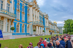 13 juni, St. Petersburg van 2016, Rusland Catherine Palace, van alle mensen op de reis wordt gevestigd in de stad Tsarskoye Selo  Stock Afbeeldingen