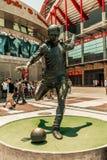 25. Juni 2018 Statue Lissabons, Portugal - Eusebio-bei Estadio DA Luz, das Stadion für Sport Lissabon e Benfica Stockfoto