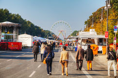 17. Juni Straße während des Festivals weihte Tag deutscher UNO ein Lizenzfreies Stockfoto